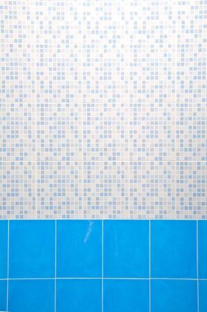 superficie: Muro de cerámica azul ligero