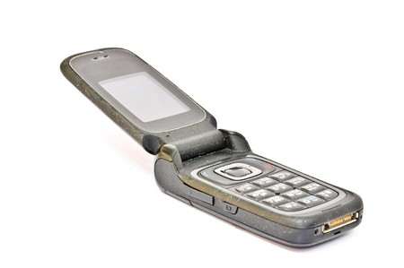 flip phone: Old Mobile Phone Stock Photo