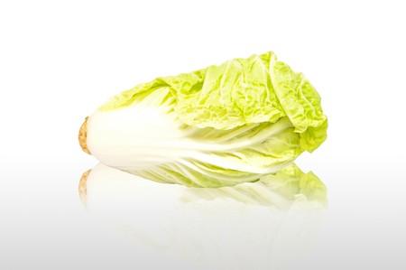 Fresh Lettuce on white background photo