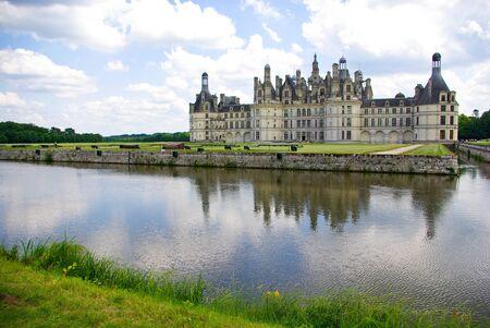 loire: Chateau de Chambord in Loire valley, France
