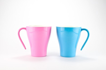 Pink and Blue Cups Stock Photo