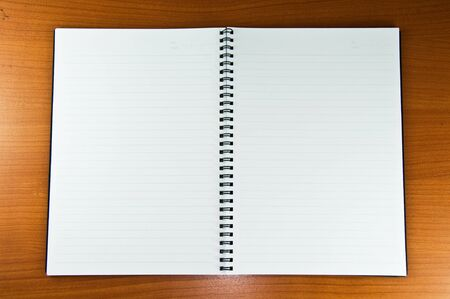 White Blank Notebook on Wood Background Stock Photo - 8305896