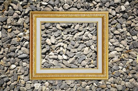 Picture Frame on Stone texture photo