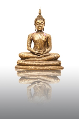 Buddha Statue with reflection photo