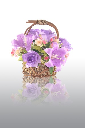 Artificial flower arrangement with reflection Stock Photo - 9632325
