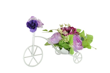 Floral Bouquet on the bicycle photo