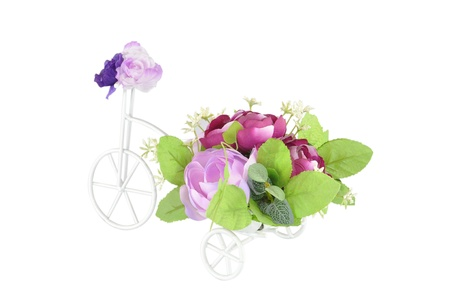 Floral Bouquet on the bicycle Stock Photo - 11286317