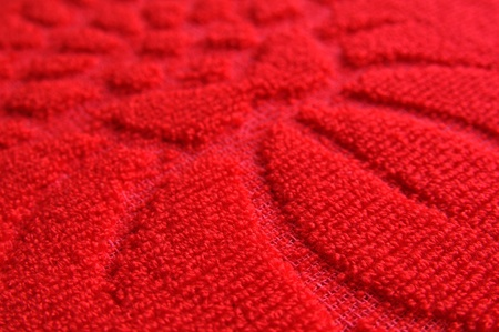 close up of pattern red wool textile texture photo