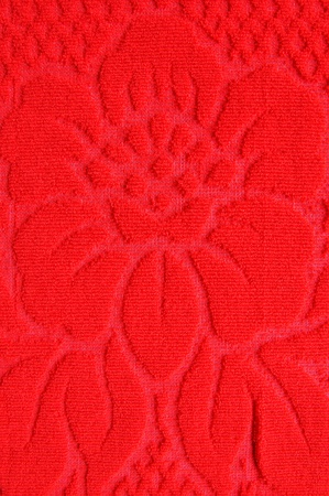 red flower pattern wool textile texture photo