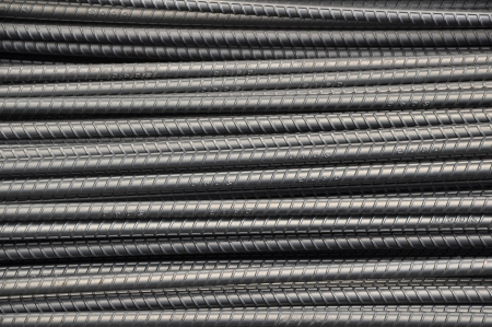 DEFORMED STEEL BARS background Stock Photo