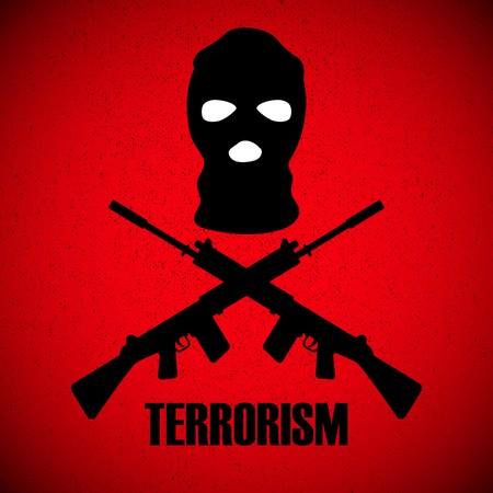 illustratie met achtergrond stop terrorisme