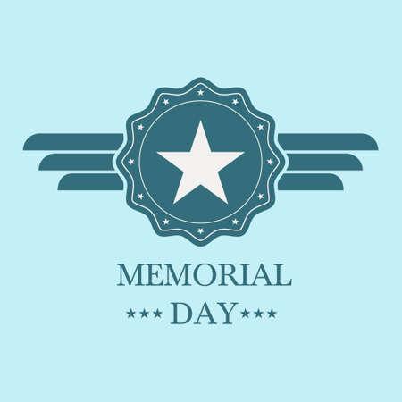 the americas: memorial day blue badge.memorial day blue label