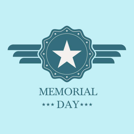 memorial day blue badge.memorial day blue label