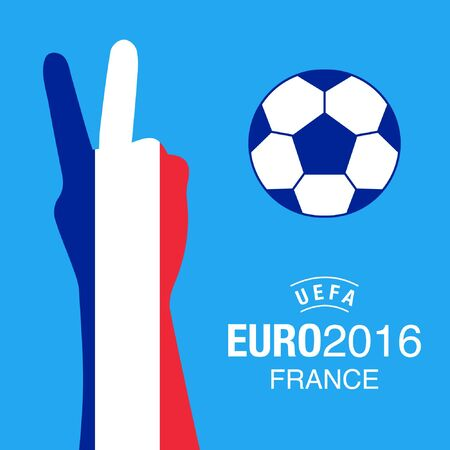 ruling: Euro2016 France football championship background