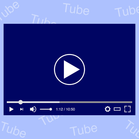 windows media video: video player screen vector illustration