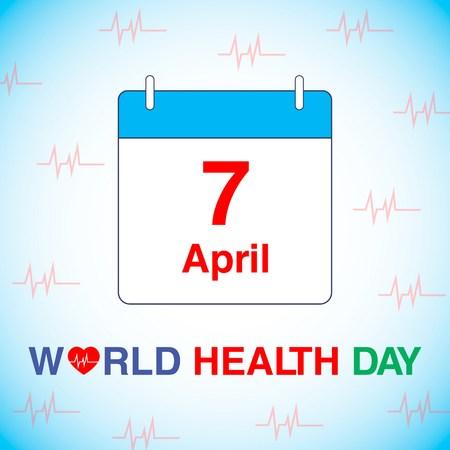 stethescope: world health day vector illustration Illustration