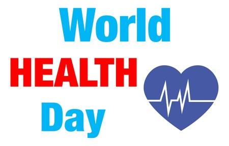 world health day vector illustration Illustration