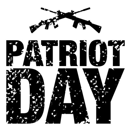 vector illustration with patriot day greeting card grunge background