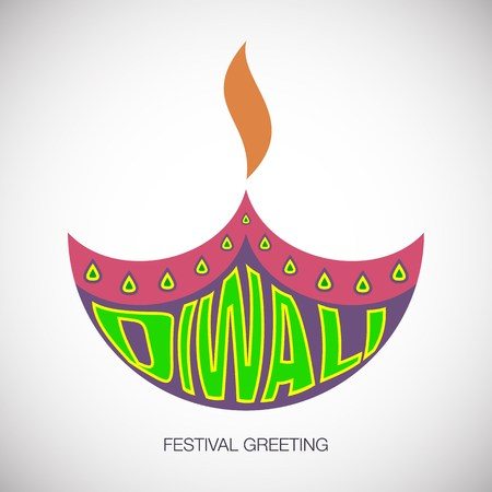 vector illustration with happy diwali greeting card background.Happy diwali festival of lights greeting card background with indian lamp.Happy diwali festival greeting background and indian lamp