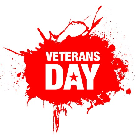 vector illustration with veterans day grunge background