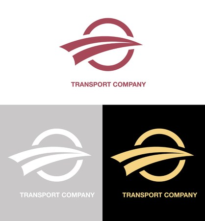 vector illustration with set of transport company logo