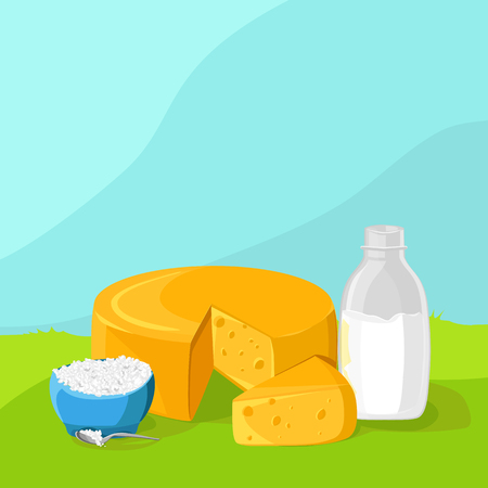 cottage cheese: organic dairy products on the delicate background. Cheese, milk, cottage cheese.