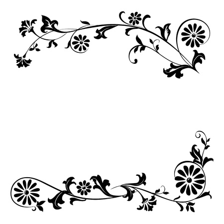 Vector elements for design flowers and ornaments floral Illustration