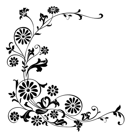 Vector elements for design flowers and ornaments floral. Vector