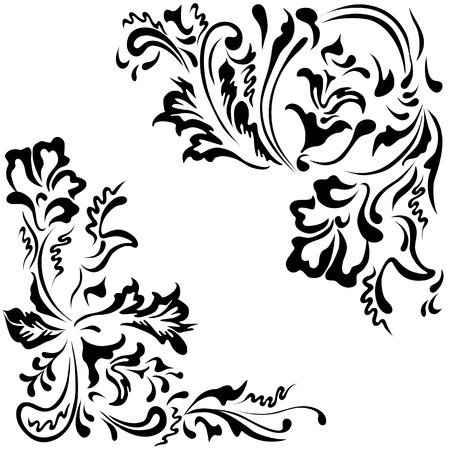 Vector elements for ornaments floral