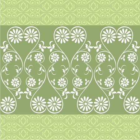 Wedding seamless background with swirling decorative floral elements Illustration