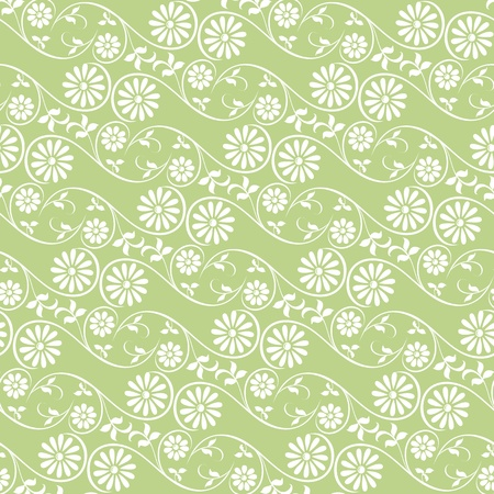 Background swirling decorative floral and plants elements