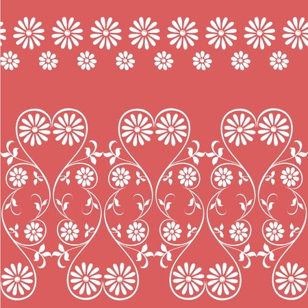 swirling decorative floral elements ornament  Edge of the fabric, material Vintage, rustic seamless pattern