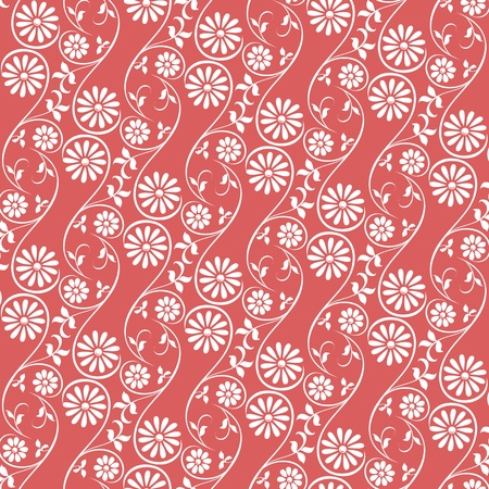 webbing: Seamless background only on both sides with swirling decorative floral elements