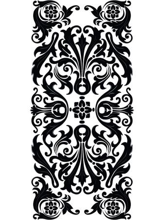 꽃 장식 요소 소용돌이 빈티지 디자인