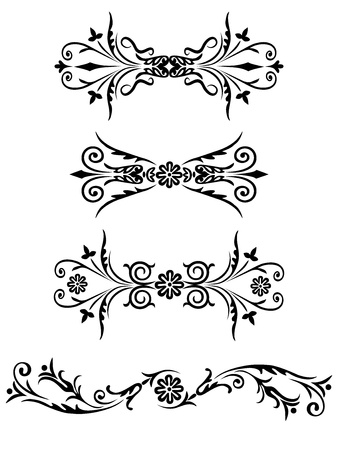 Vector elements for design flowers and ornaments floral. Decorating for the page