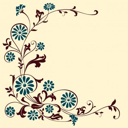 elements for design flowers and ornaments floral. Decorating  Illusztráció