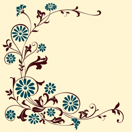 elements for design flowers and ornaments floral. Decorating  Illustration