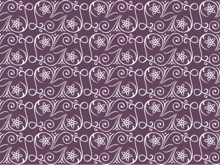 Seamless pattern on a  lilac background with swirling decorative floral elements