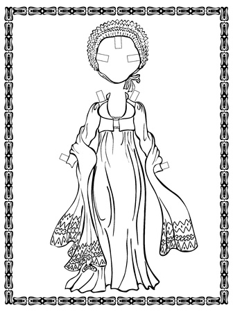 inkle: Output vintage dress with a jacket, hat-shute, shawl. Empire style