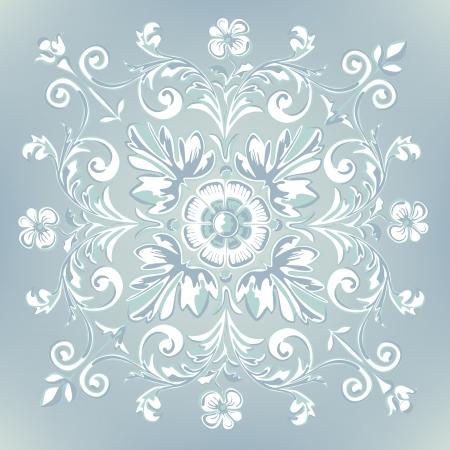 빈티지 소박한 꽃 Pettern 자유로운, 장식 꽃.