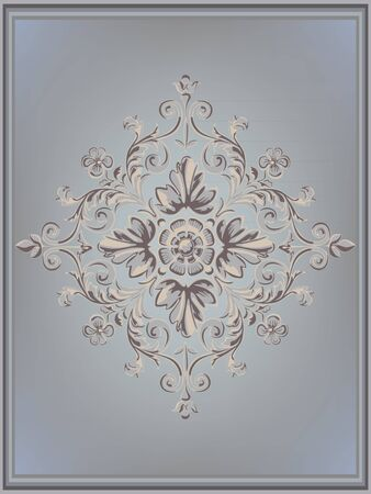 Vintage background with ornaments floral. Vector