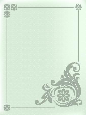 Design frame with swirling decorative elements .Ornamental background.