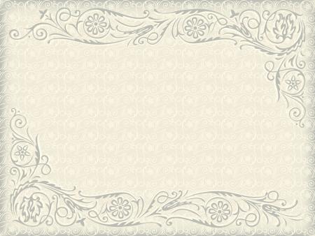 Fondo ornamental floral de la boda. Capítulo con remolinos elementos decorativos Foto de archivo - 15646178
