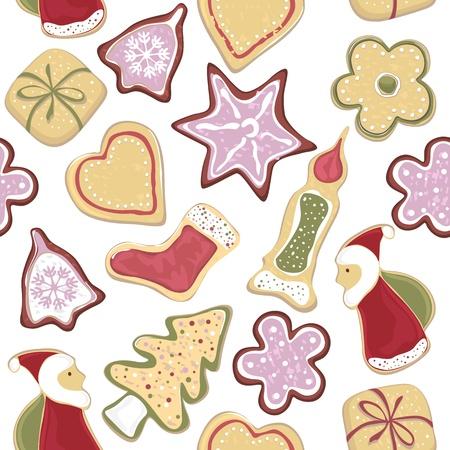 christmas cookie: seamless pattern. christmas cookie
