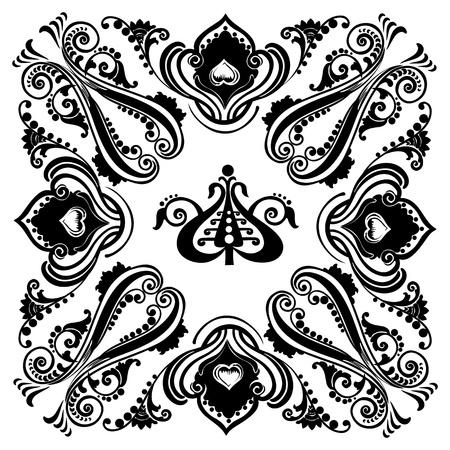 Vintage black floral swirling ornament Stock Vector - 16038288