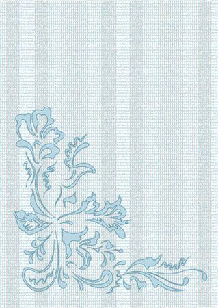 applique flower: Applique flower pattern on a irregularity background