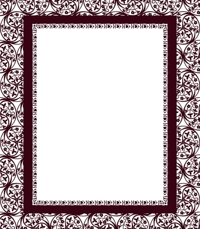 vinous: Design frame on a ornamental swirling background