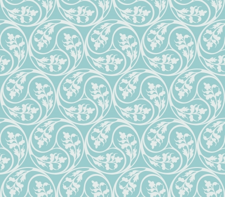 Seamless pattern decorative plants elements Vector