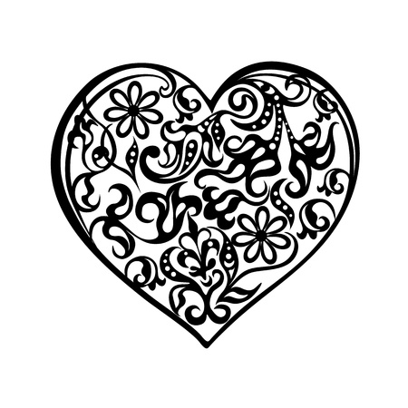 Heart tattoo black Stock Vector - 16855957