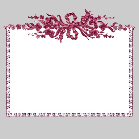 Design frame. Bouquet of flowers. Space for your text or picture Vector